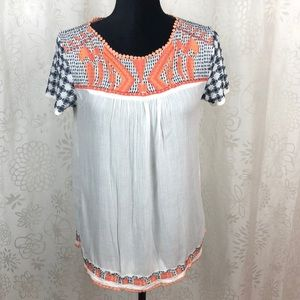 Chelsea & Violet embroidered blouse size XS
